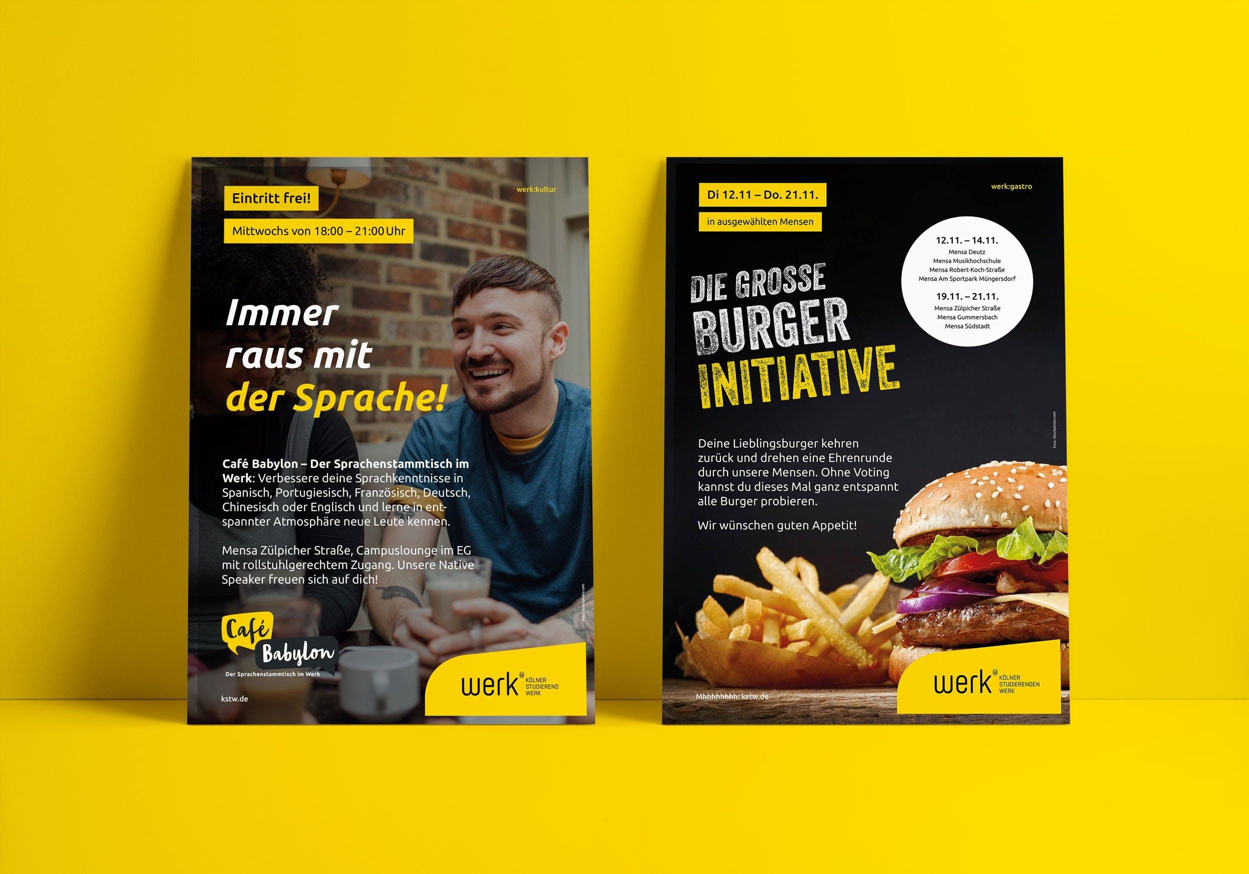 WERK Poster gelb